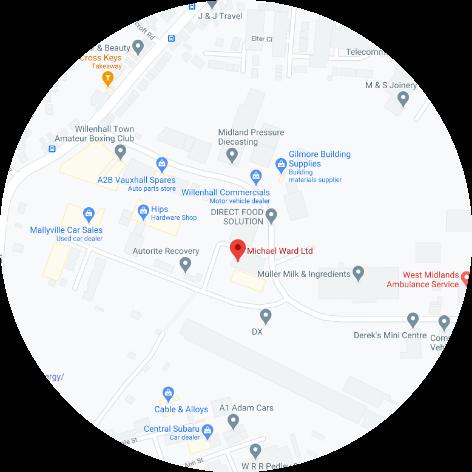 Michael Ward Limited Midlands Location